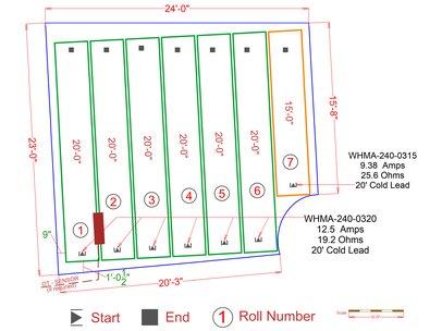 Asphalt Driveway Snow Melting Mat System plan