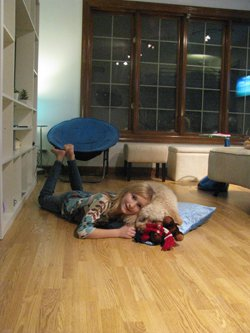 Danielle on her Environ Floor