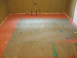 Floor Heating install