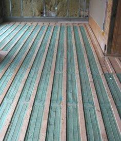 Floor Heating Installation Under Hardwood