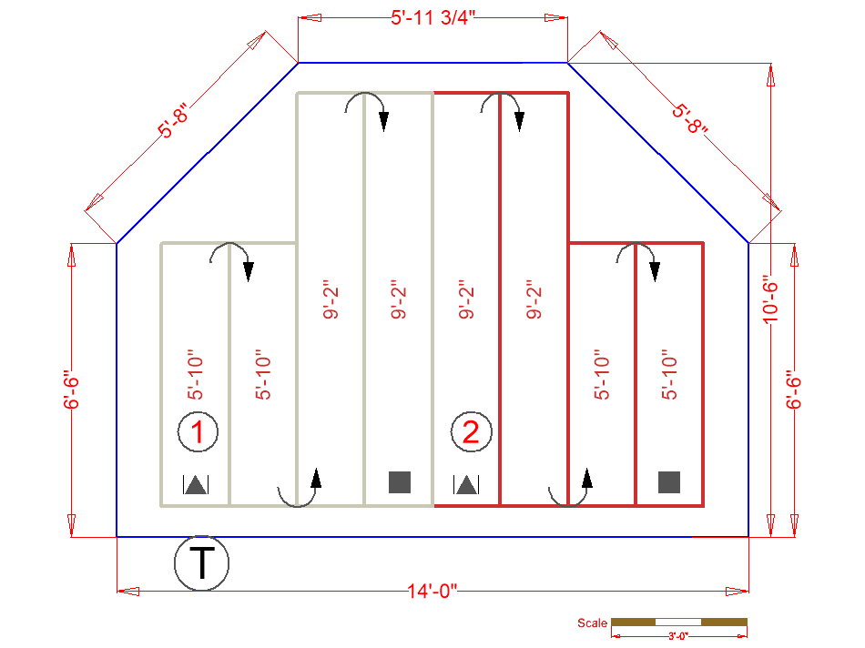 Living Room Floorplan with Radiant Heat