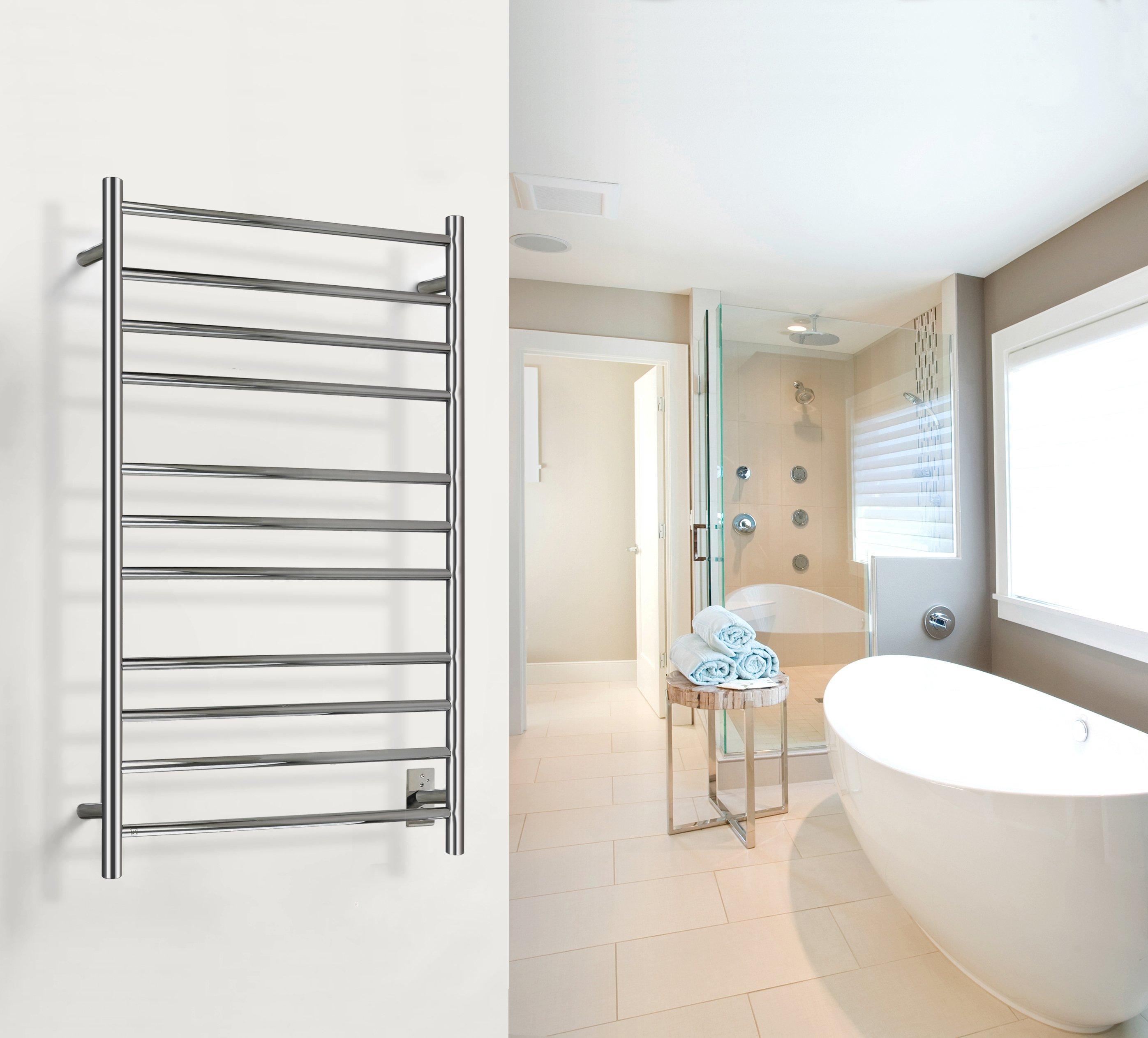 Towel Warmer Malta Towel Warmer Polished Hardwired 11