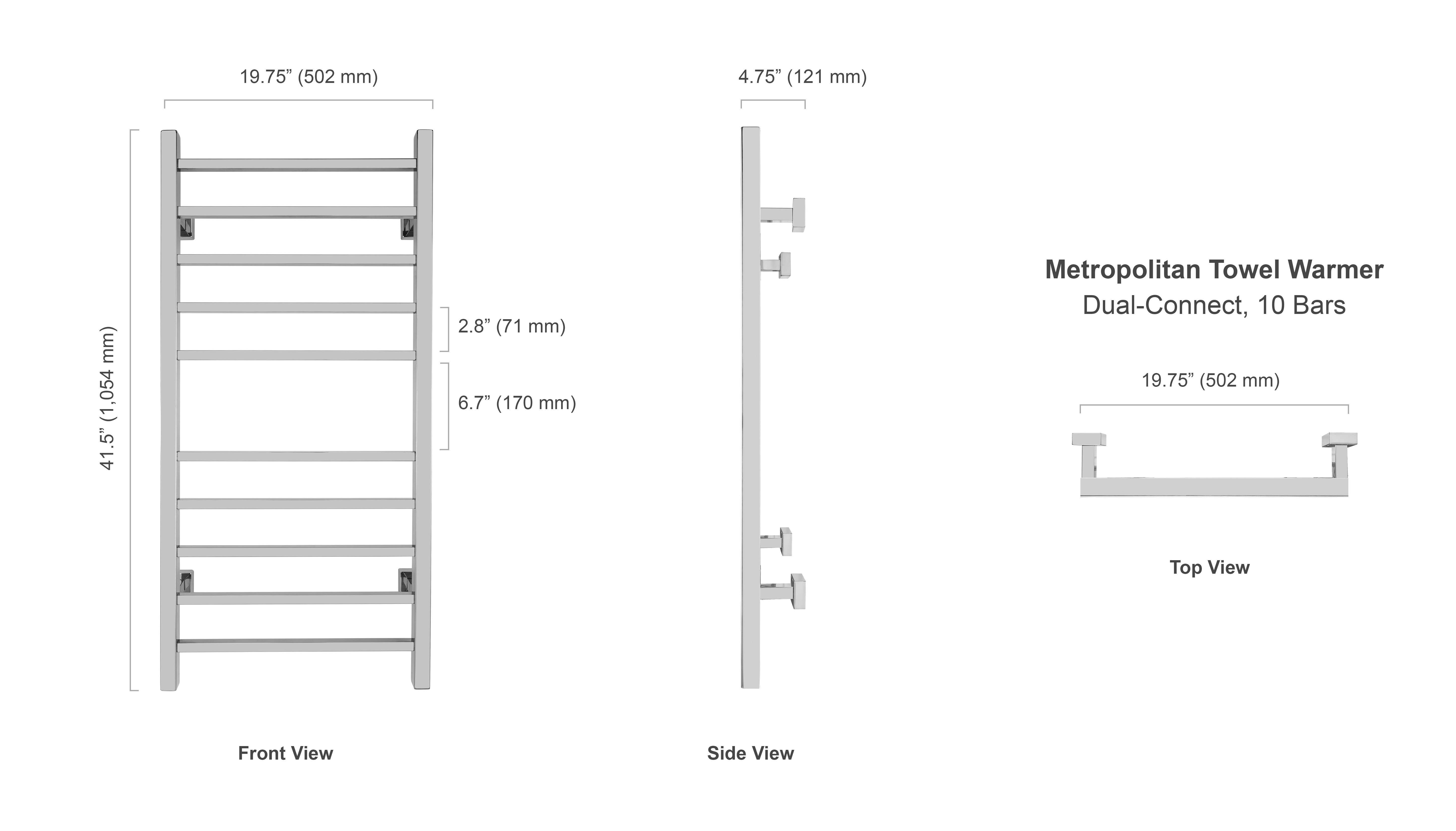 towel warmer metropolitan hardwired warmlyyours canadametropolitan towel warmer dimensions