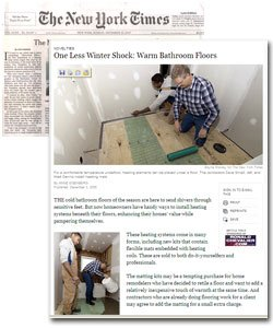 New York Times story on WarmlyYours Floor Heating