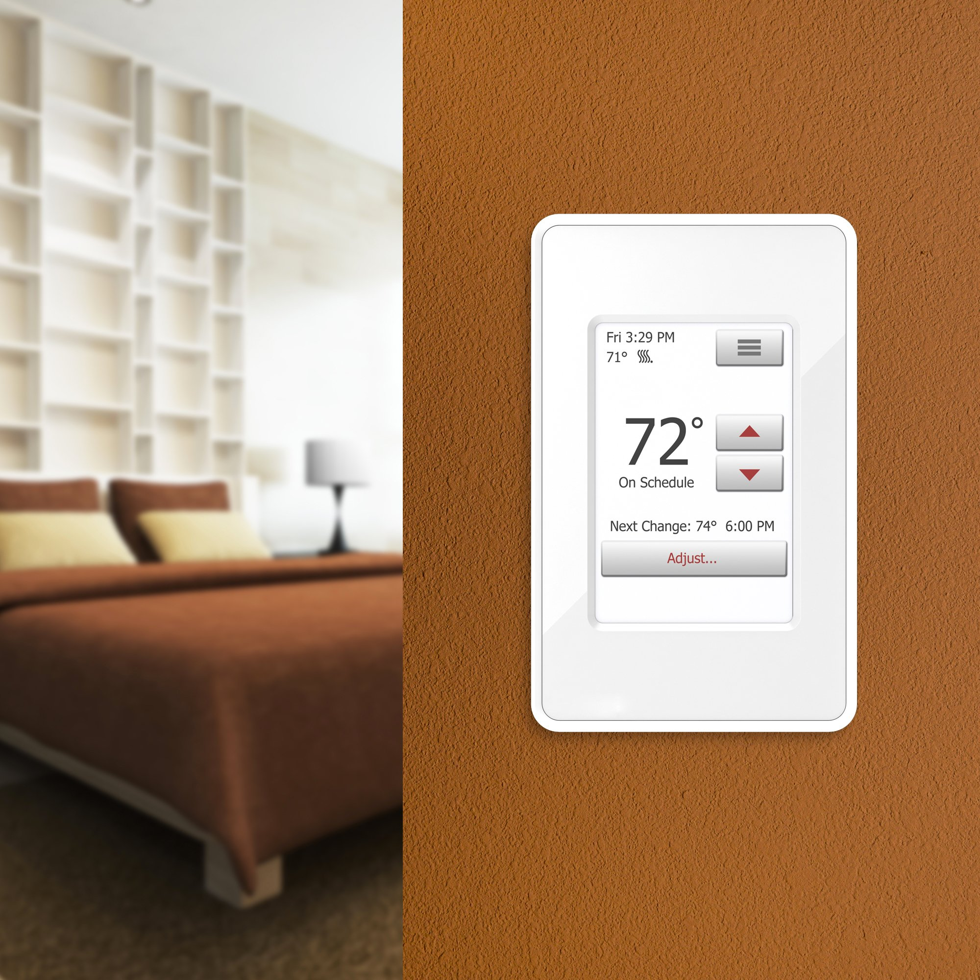 Electric floor heating thermostat
