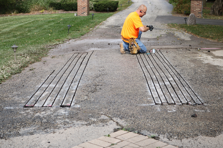 Retrofit snow melting application for existing asphalt driveway 6a942d