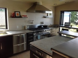 slab heating installed in kitchen countertops