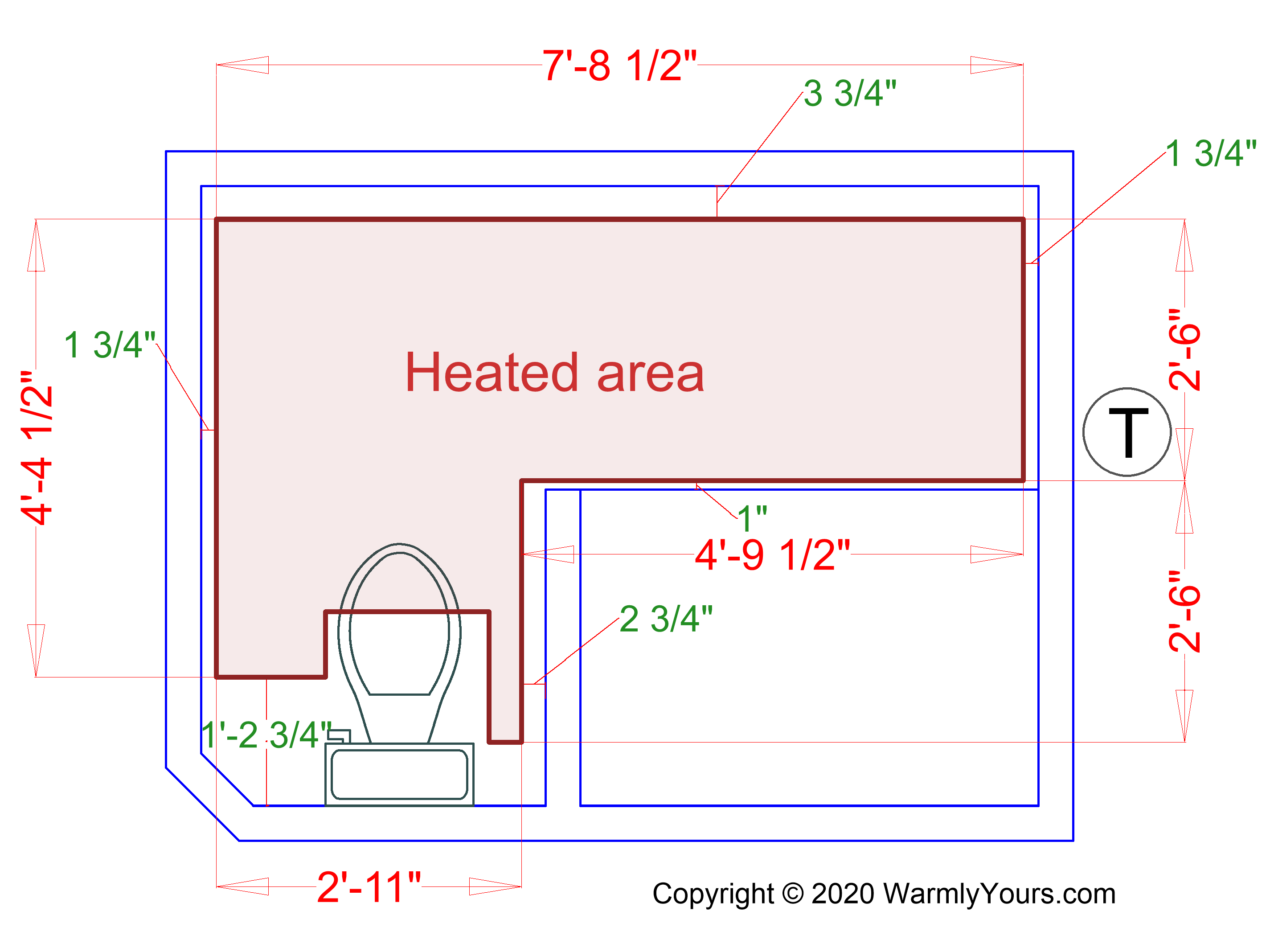 A heated area plan to make sure the heated area will be sufficient for your  needs.