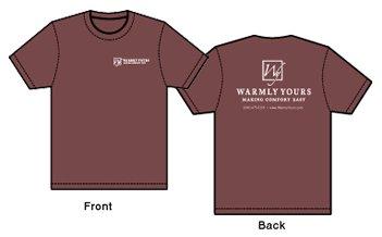 WarmlyYours tshirt