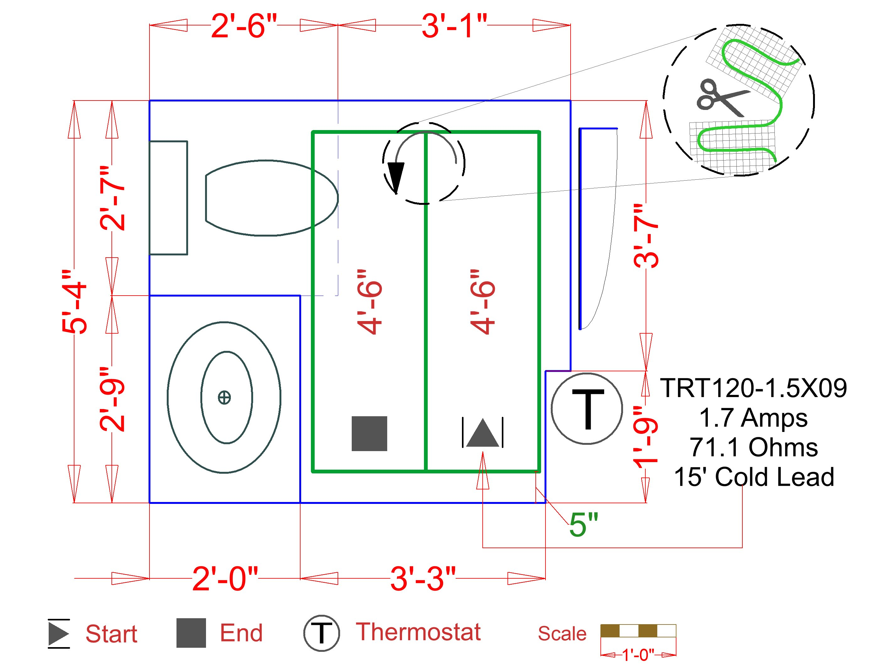 Circuit Check For Testing Floor Heating Systems Warmlyyours Usa Tester Further Work Cable Diagram On Installation Plan Image