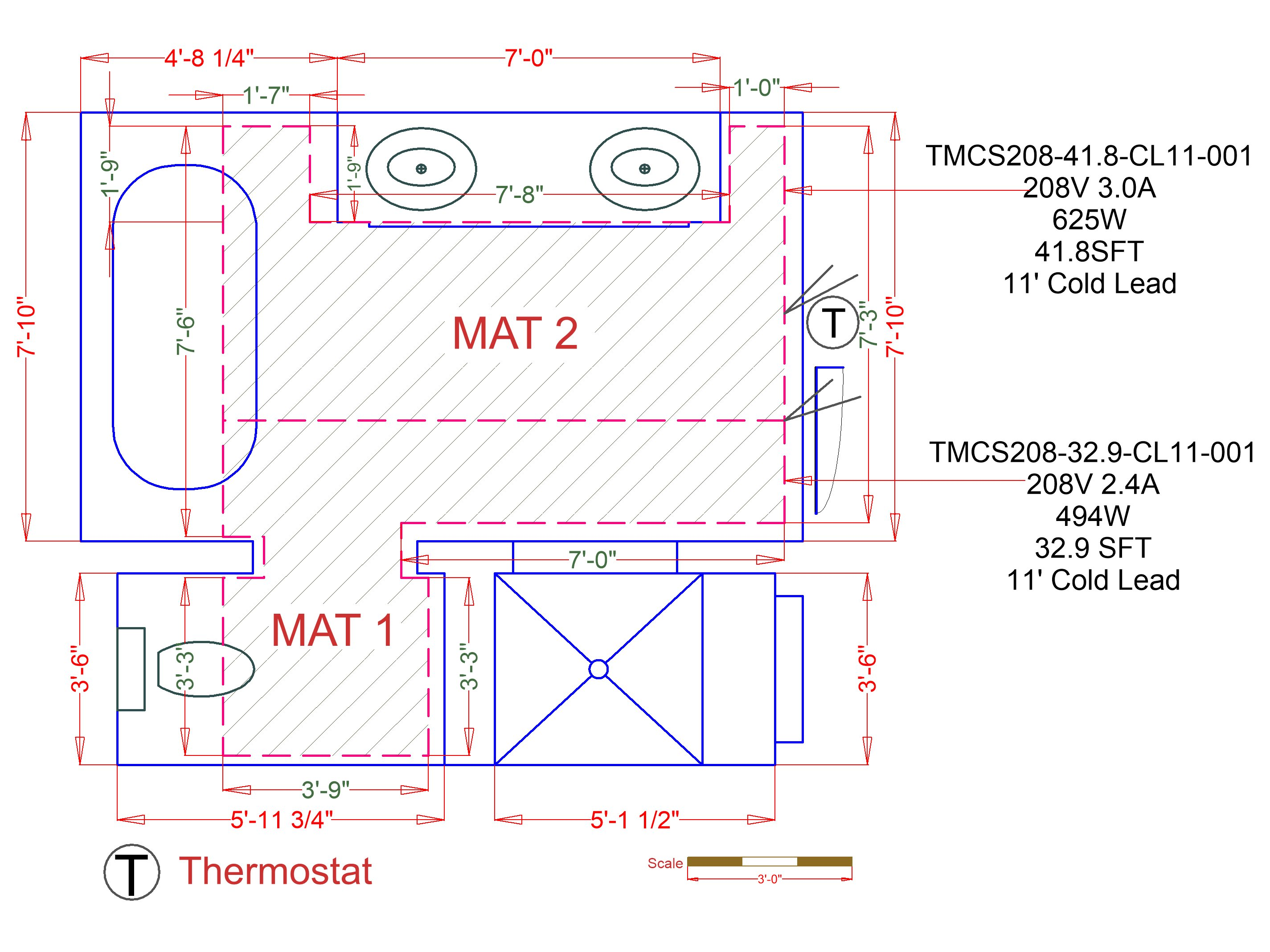 Circuit Check For Testing Floor Heating Systems Warmlyyours Usa Radiant Ceiling Heat Wiring Schematic Installation Plan Image