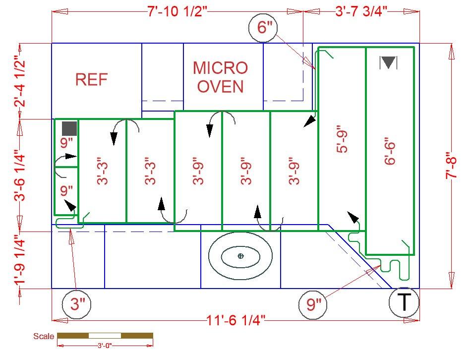 Kitchen Floor Plan with Radiant Heat