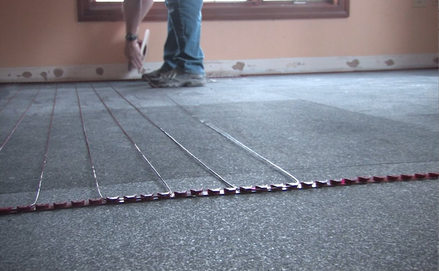 Floor Heating Tempzone Cable 120v 37w Ft 30 Carpet On Concrete Detail Under Wiring System 10a