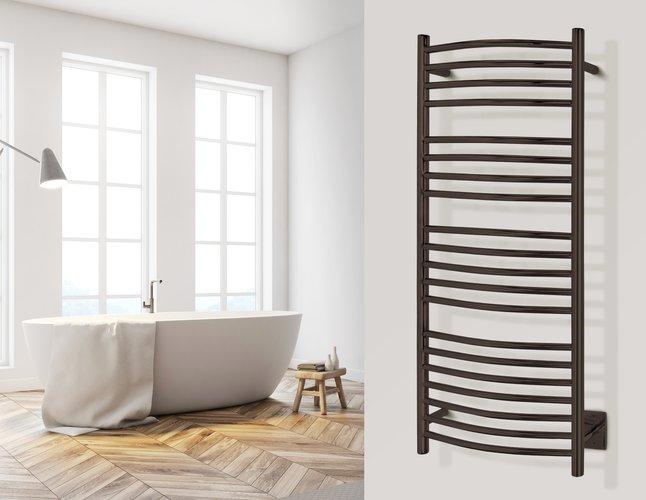 Bellagio Towel Warmer Oil Rubbed Bronze Lifestyle
