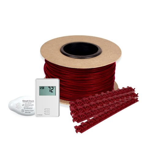 Floor Heating Kit 120V-Tempzone Cable System 30' + Non Programmable Thermostat TCT120-KIT-ON-030