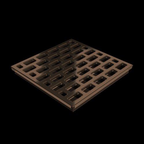 Pro GEN II Grate Cover, Pro Series Brick Pattern, Copper Finish