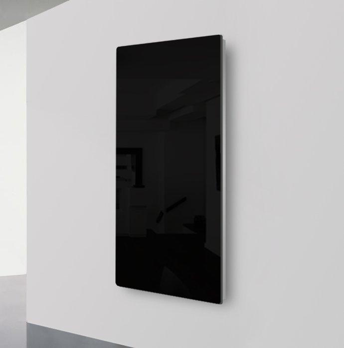 Lava Glass Black Radiant Panel