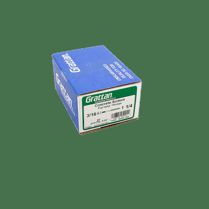 "TempZone™ Cable Concrete Screw (Pack of 20) - 3/16"" x 1 1/4"" TC-CON-SCRW-P020"