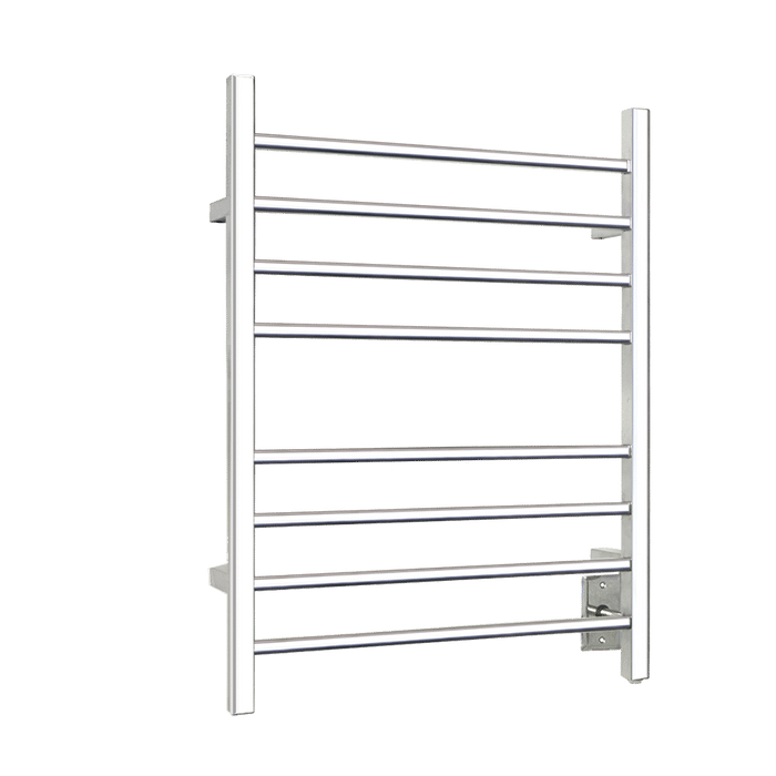 Towel Warmer Sierra Section Square 8-Bar Polished Stainless TW-SR-08PS-HW