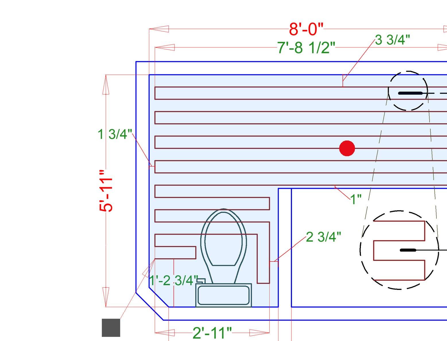Electric Floor Heating Smartplan in Master Bathroom with TempZone Flex Roll