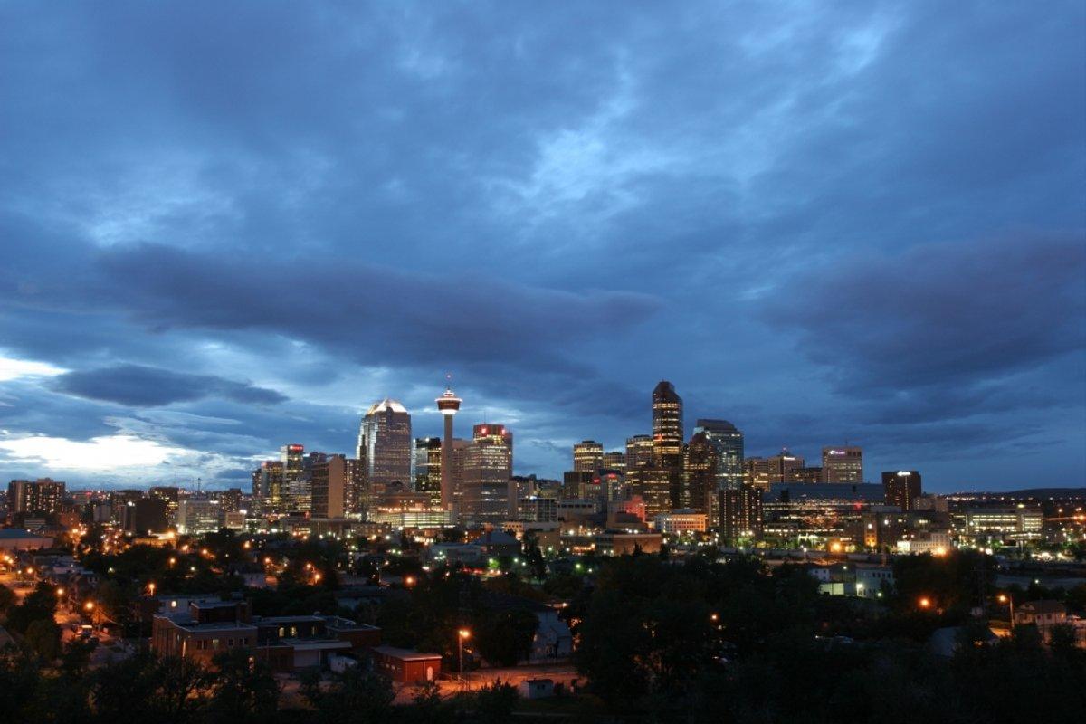 Calgary Skyline Cloudy