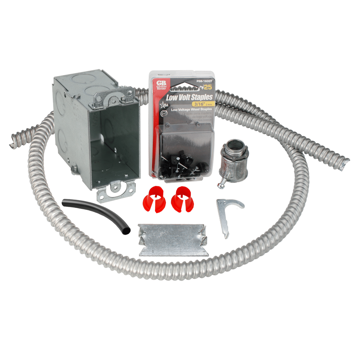 Electrical Rough-in Kit Single Gang Box with Single Conduit