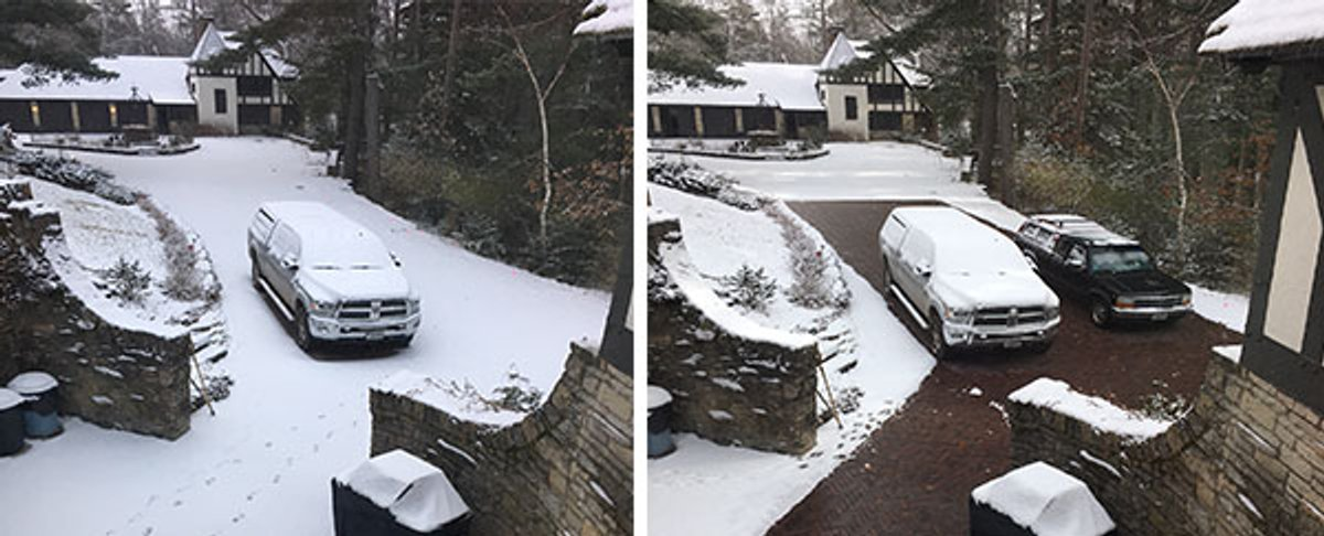 Email Header Snow-Melting Before and After Photo