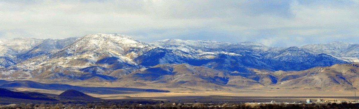 Fernley, NV mountain range screen shot