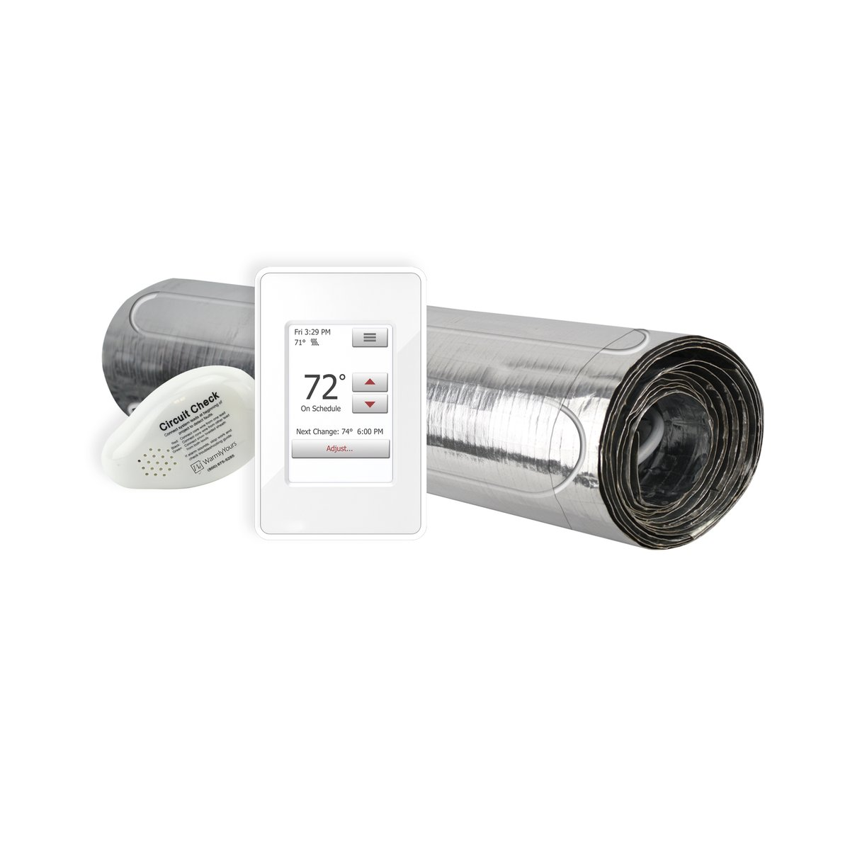 Floor Heating Kit 120V-Environ Flex Roll 1.5' x 35' + Touch Screen Thermostat ERT120-KIT-OT-1.5x35