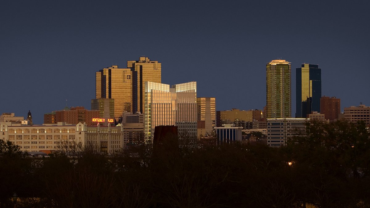 Ft. Worth Skyline at Sunset