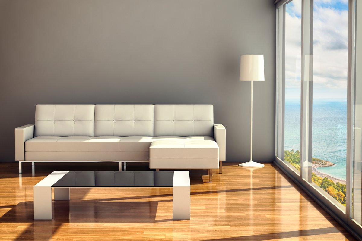Living Room Lifestyle w/picture window - light/airy
