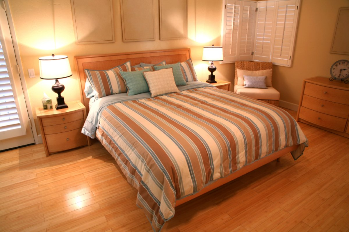 Master Bedroom Lifestyle Stock Photo