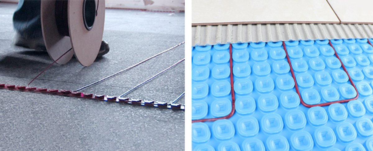 TempZone Cable with Fixing Strips and with Prodesso Uncoupling Membrane