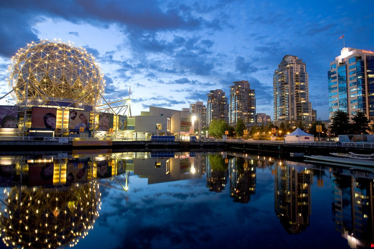 Vancouver, BC-Skyline at Dusk