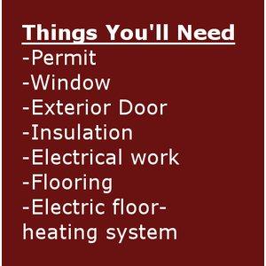 Garage to office renovation checklist