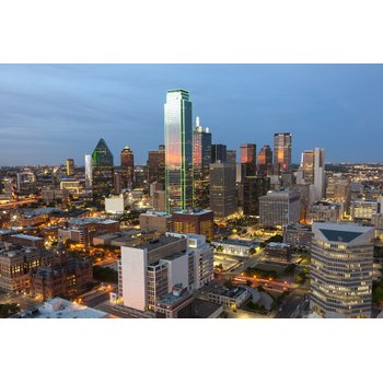 Dallas skyline aerial view 8ed2bf