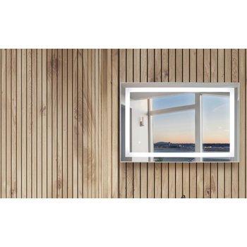 Horizontal audrey led mirror lifestyle wood background 55b572