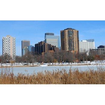 Minneapolis winter skyline d68961