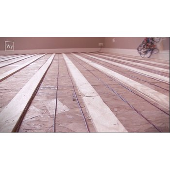 Screenshot of nailed down hardwood floor installation with tz cable 867a80