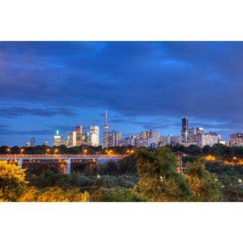 Toronto skyline at dusk e5aa3a