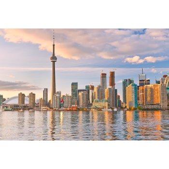 Toronto skyline at dusk for kitchen floor heating blog 3c0560