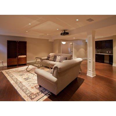 Basement Living Room Lifestyle Stock Photo