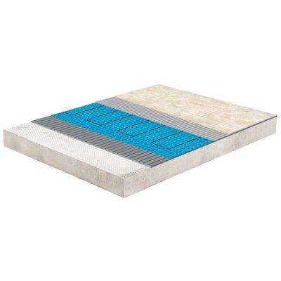 Heated tile floor cross section