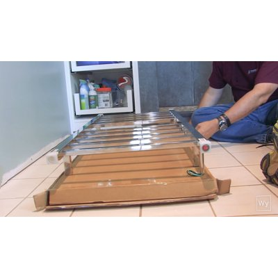 Making a towel warmer mounting template