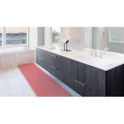 Radiant heated floors in bathroom