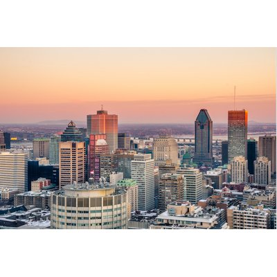 Sunset over Montreal in Winter