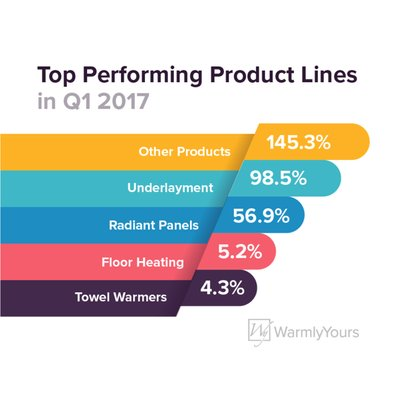 Top Performing Product Lines in Q1 2017