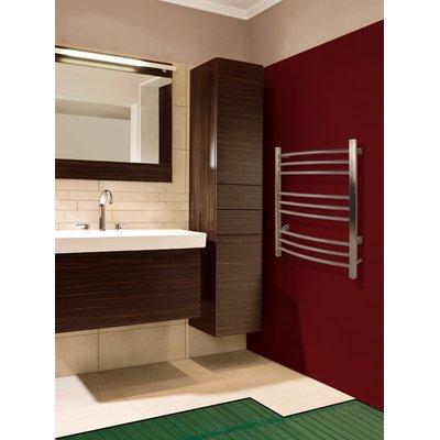 WarmlyYours TempZone floor heating under bathroom tile with towel warmer