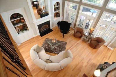Floor-heating system living room