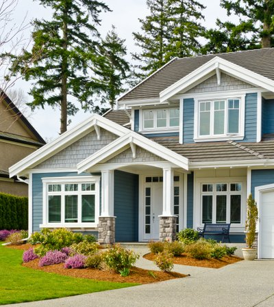 Home with low-maintenance siding